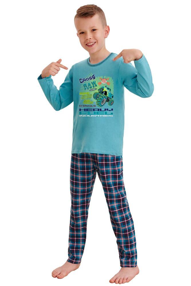 Klučičí pyžamo Leo cross power modré velikost 92