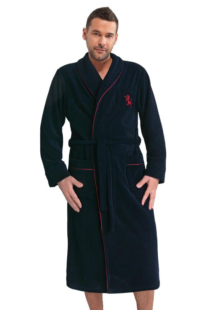 Kvalitní pánský župan Lukas tmavě modrý velikost XL