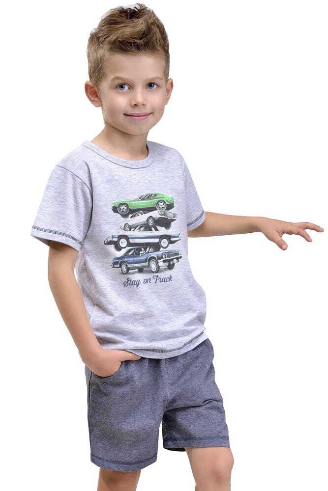 Dětské bavlněné pyžamo Nátan šedé velikost 116