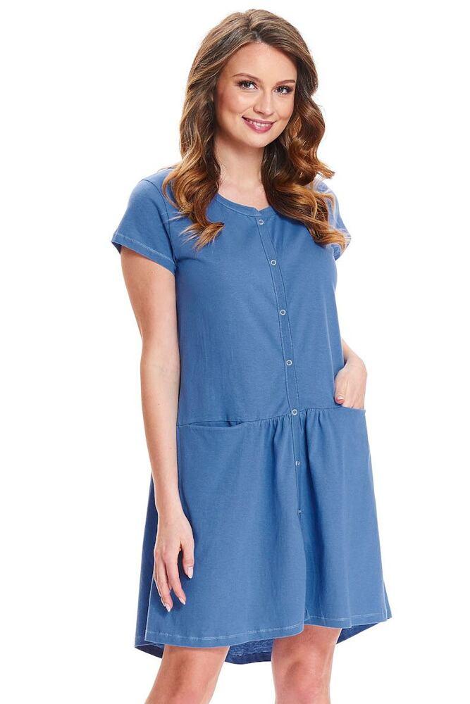 Kojicí noční košile Bella modrá velikost M