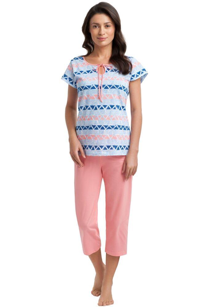 Dámské bavlněné pyžamo Natalia se vzorem velikost S