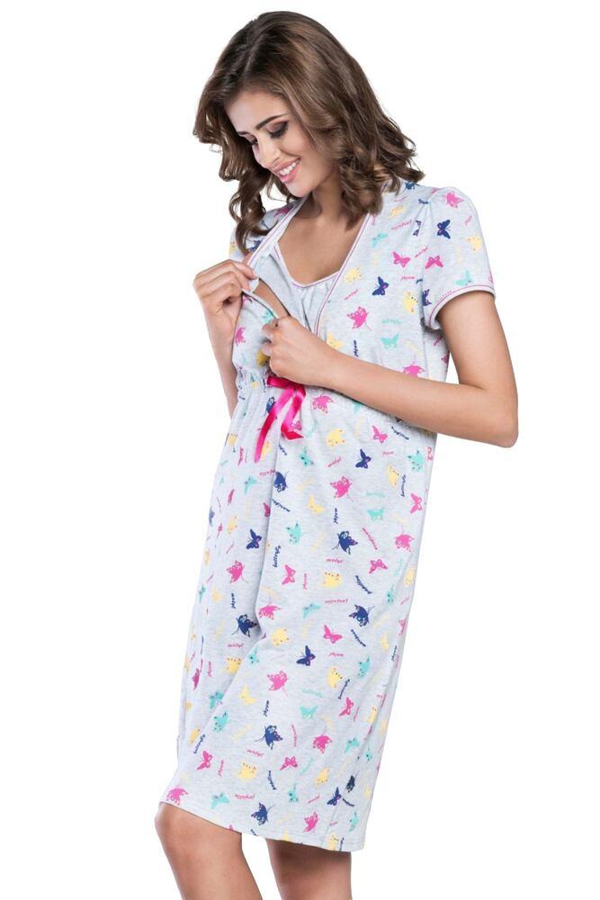 Mateřská noční košile Mariposa šedá velikost S