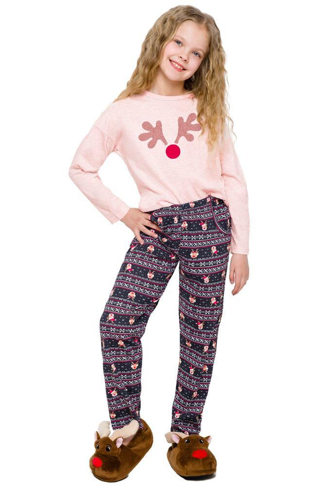 Dívčí pyžamo Sofinka lososové sob velikost 104