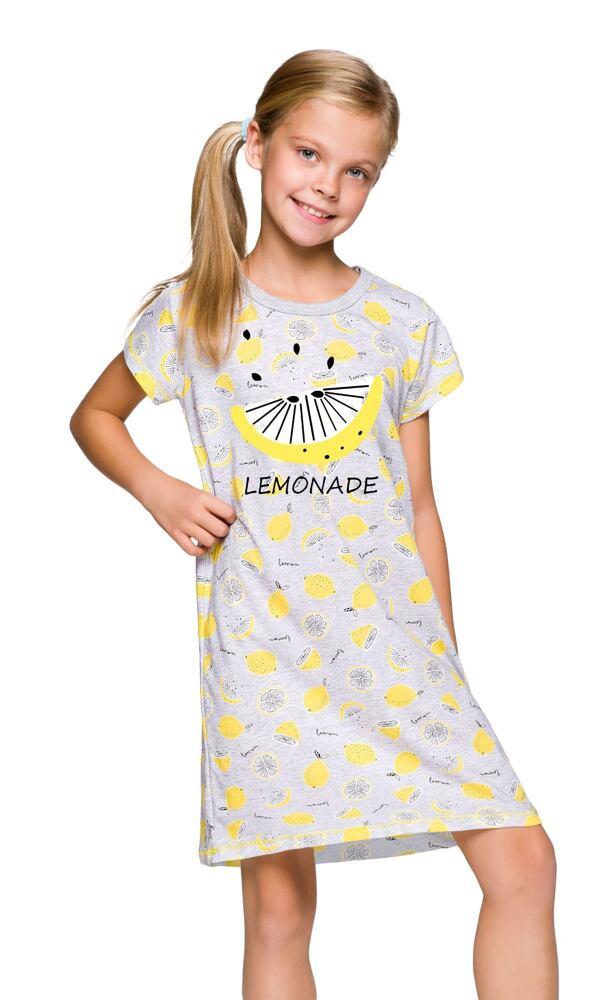 Dívčí košile Pepa šedá citróny velikost 104