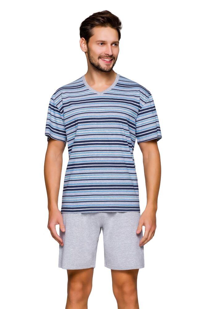Pánské pyžamo Lumír s proužky velikost XL