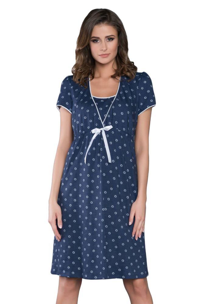 Mateřská noční košile Daisy tmavě modrá velikost S
