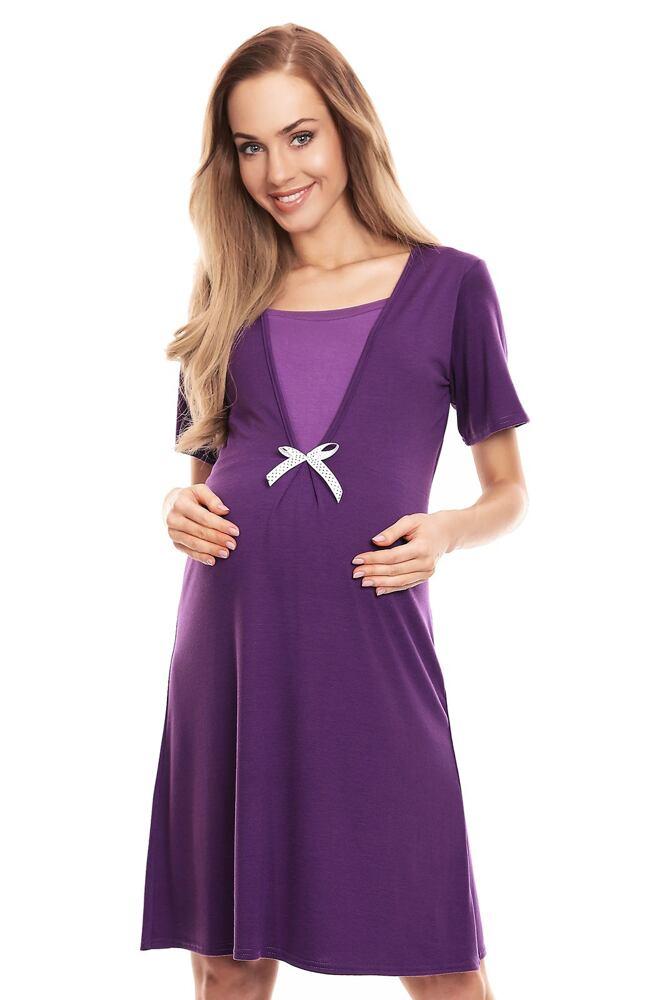 Mateřská noční košile Irena fialová velikost S/M