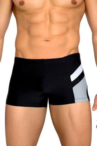 Pánské plavky boxerky Brando černošedé velikost S