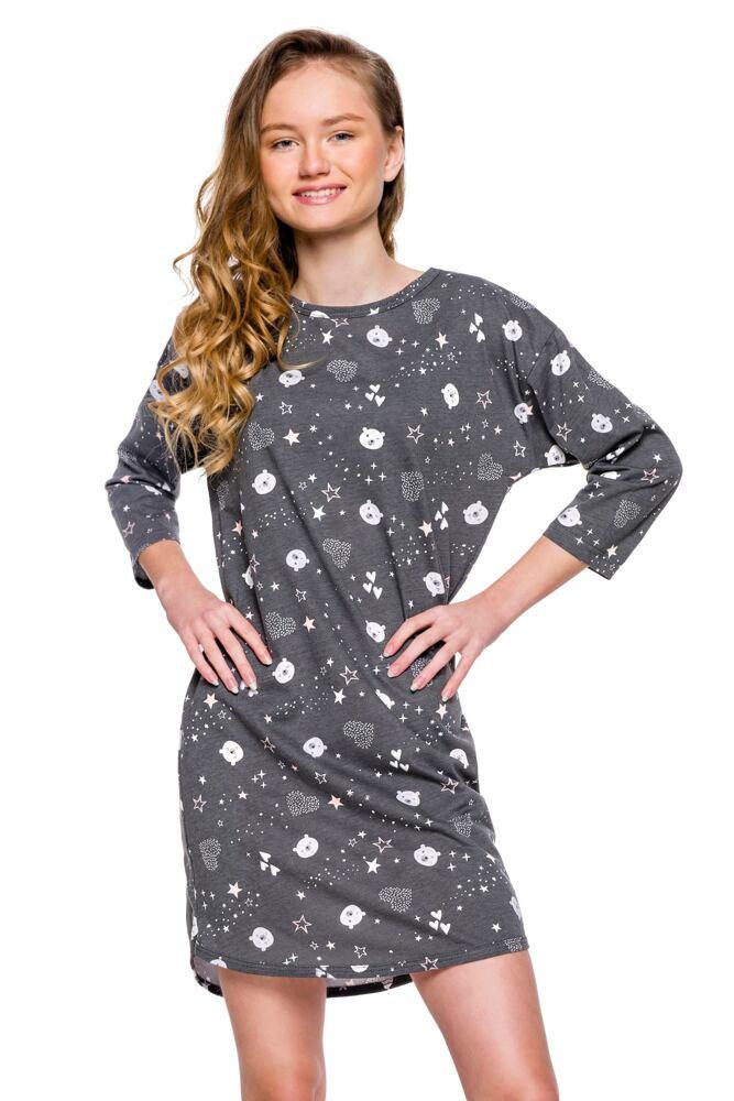 Dívčí noční košilka Molly šedá medvěd velikost 146