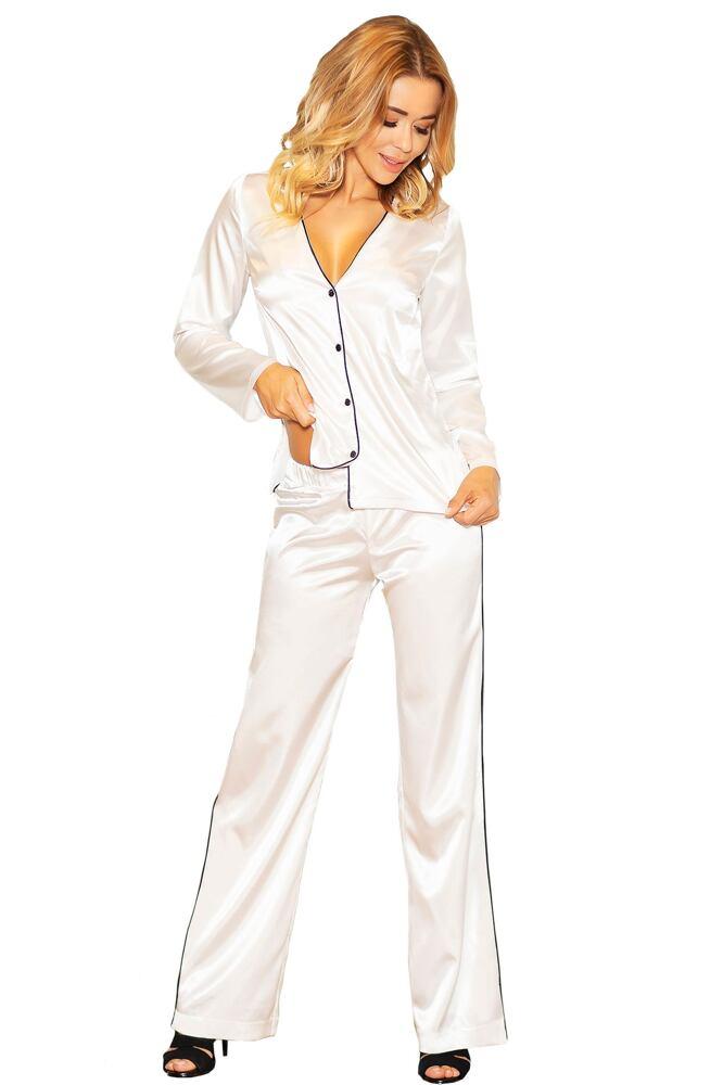 Saténové pyžamo Termi ecru velikost S