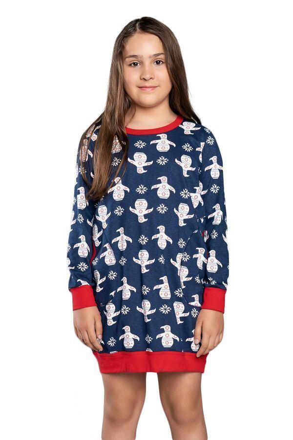 Dívčí noční košilka košilka Malika modrá velikost 122