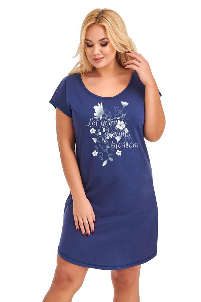 Dámská nadměrná košilka Agnes tmavě modrá velikost XXL