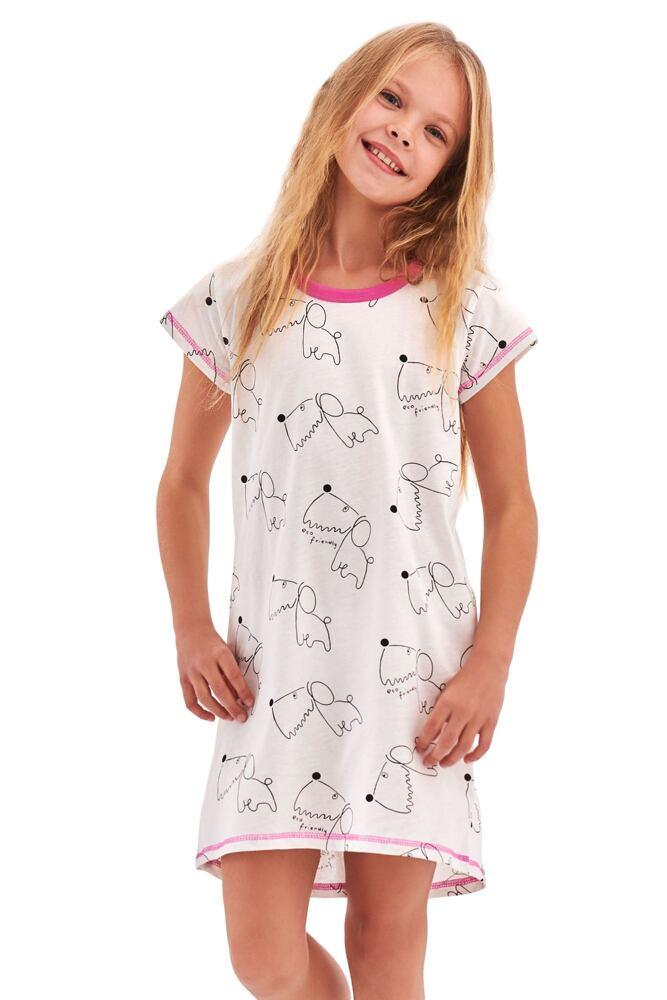 Dívčí noční košile Pepa bílá Dog velikost 110