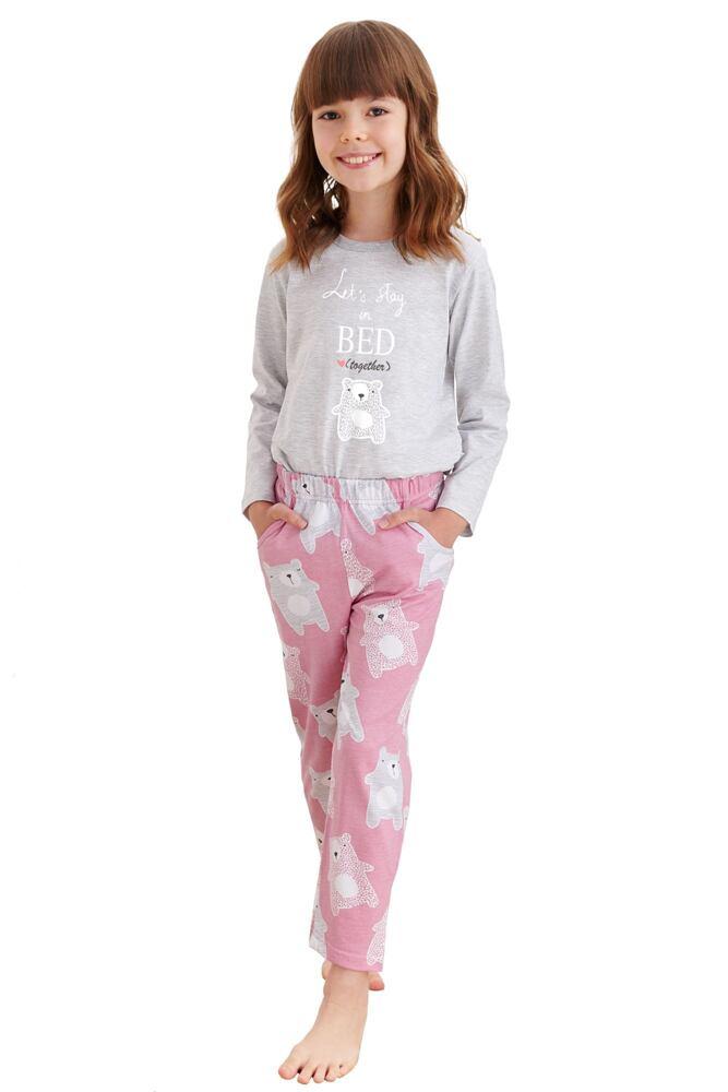Dívčí pyžamo Sofia šedé medvídek velikost 104