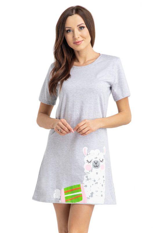 Dámské tričko na spaní Alpaka světle šedé velikost S