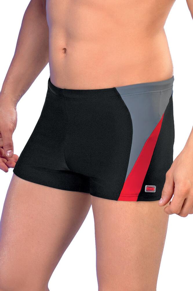 Pánské boxerkové plavky Peter1 černočervené velikost M