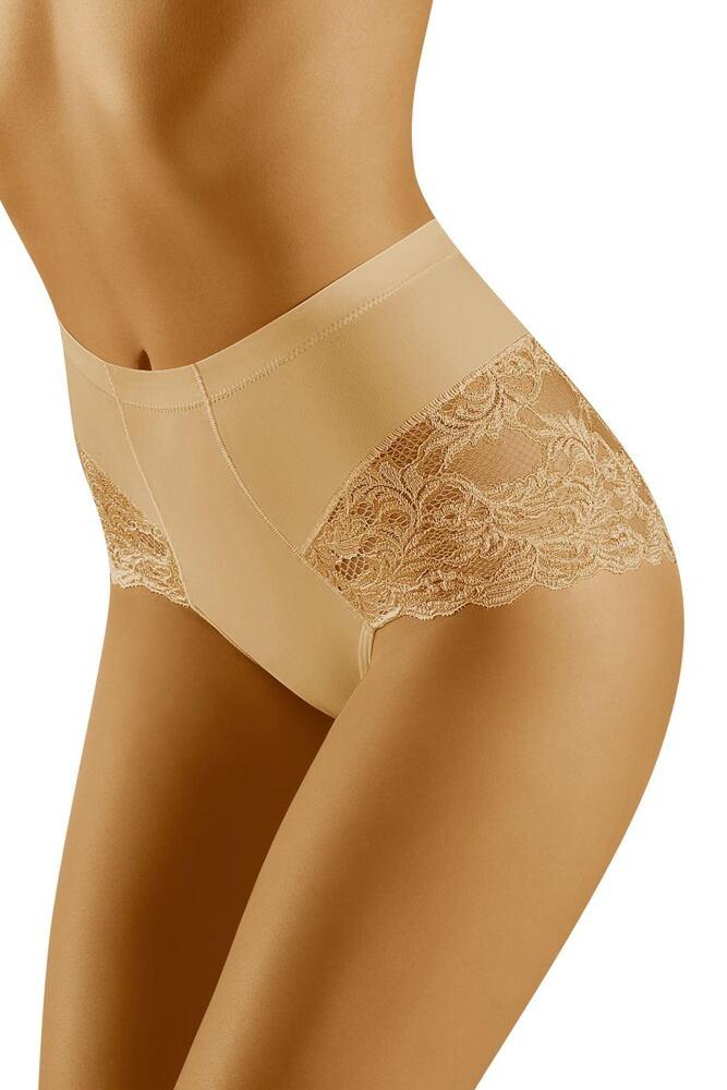 Stahovací kalhotky s krajkou Slimea béžové velikost S
