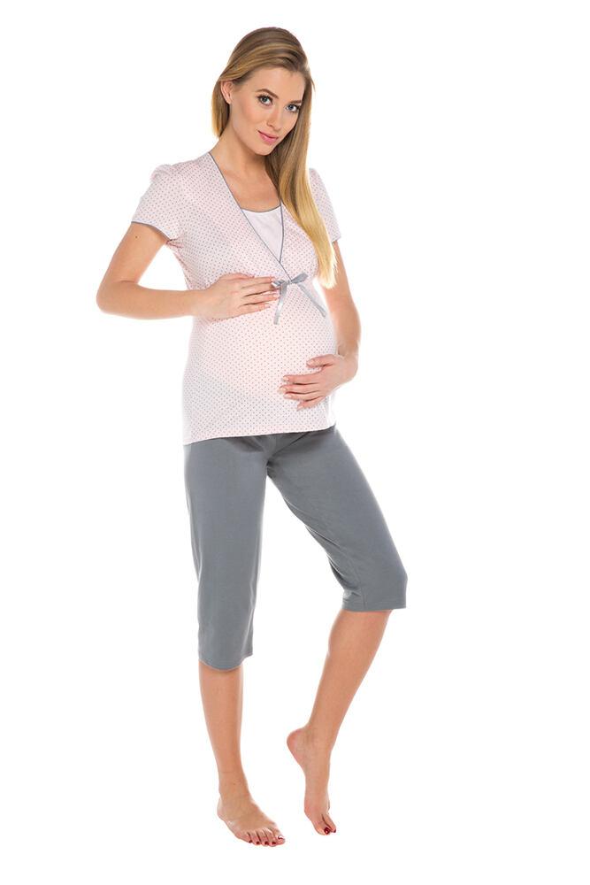 Těhotenské a kojicí pyžamo Felicita růžové velikost S