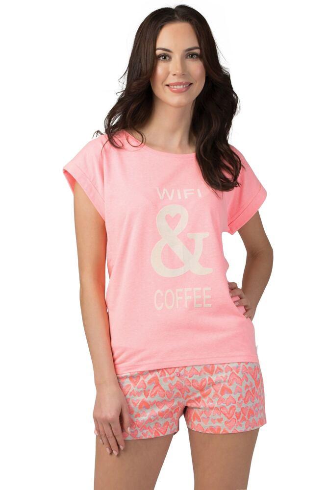 Dámské korálové pyžamo Holly velikost S