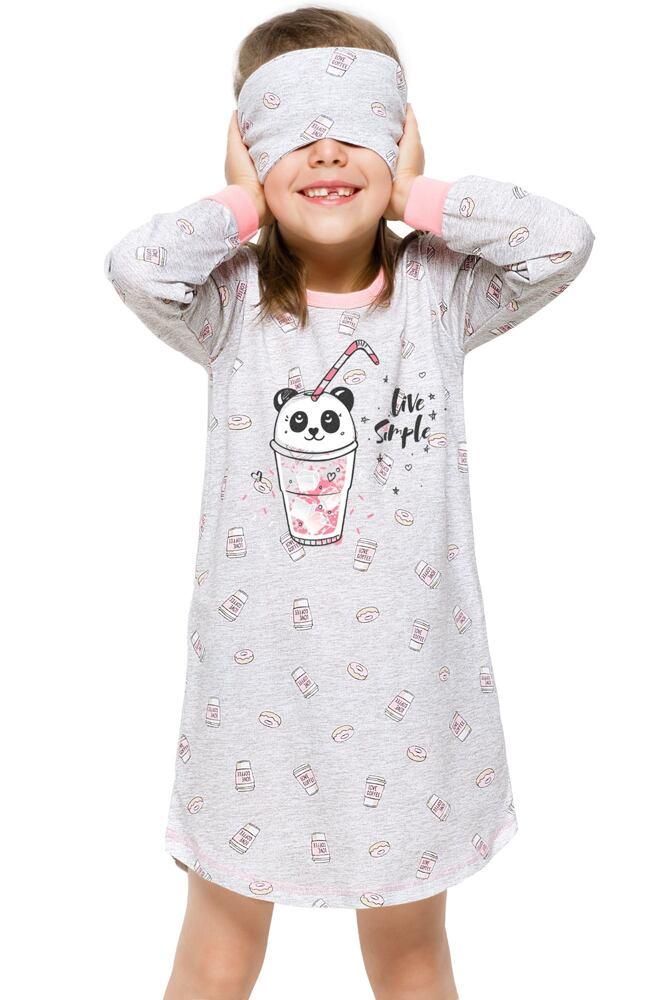 Dívčí noční košile Malina panda béžová velikost 110