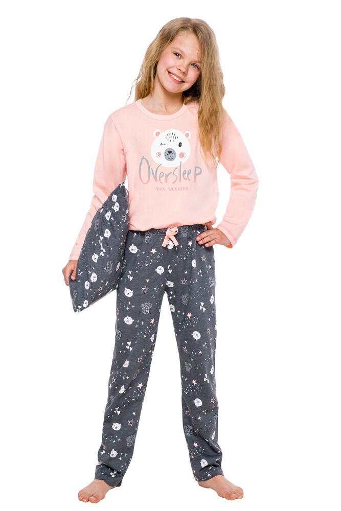 Dívčí pyžamo Maja lososové s medvídkem velikost 92