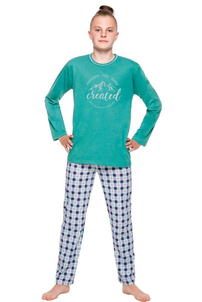 Chlapecké pyžamo Leo zelené velikost 146
