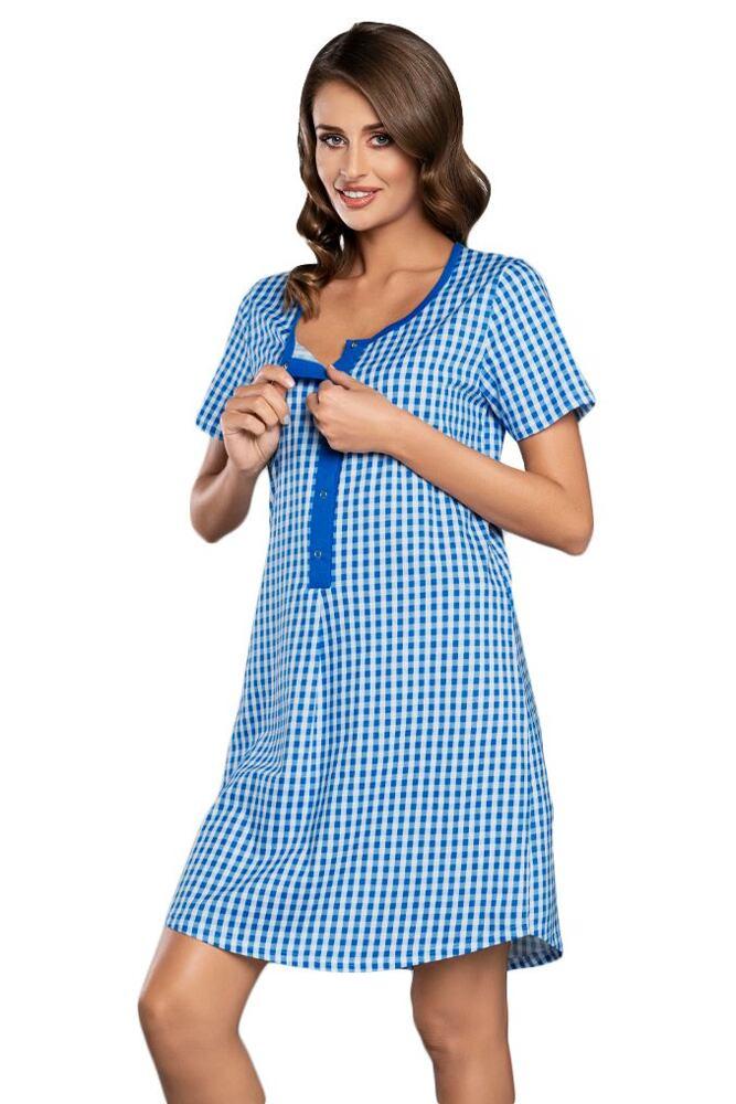 Kojicí a těhotenská košilka Michalina modrá velikost S