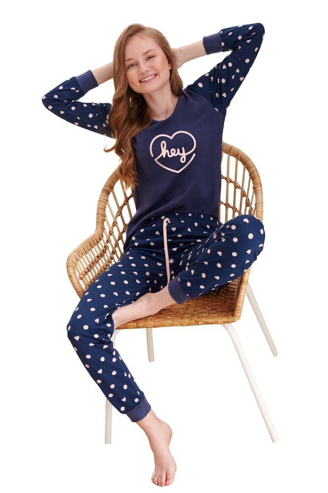 Dívčí pyžamo Ami tmavě modré velikost 146