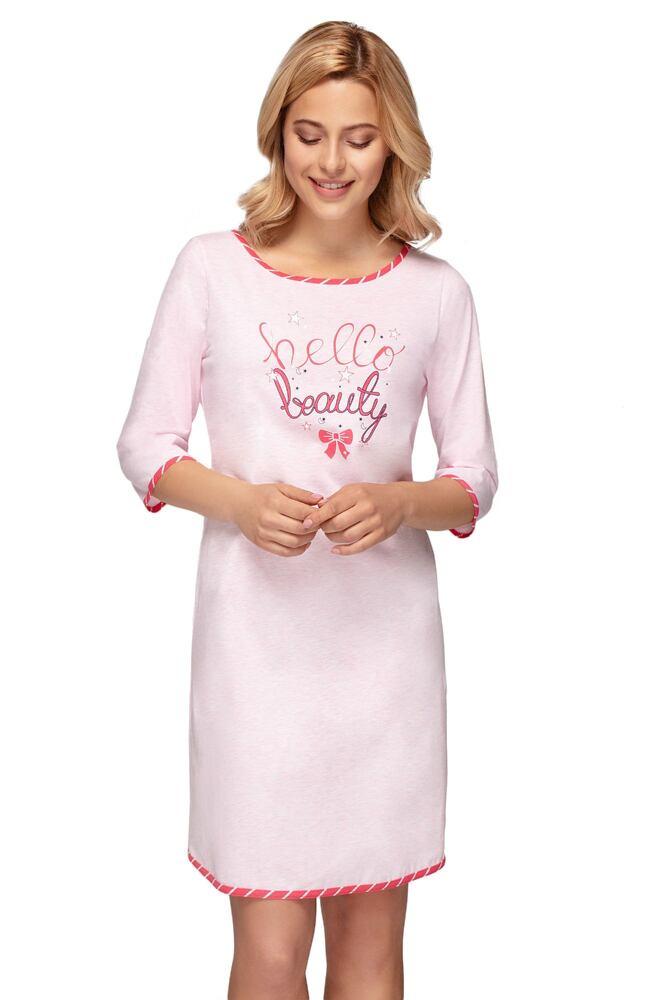 Dámská noční košile Bella beauty růžová velikost S