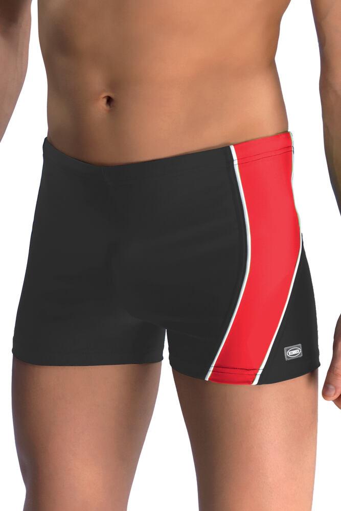 Pánské boxerkové plavky Michael1 černočervené velikost L