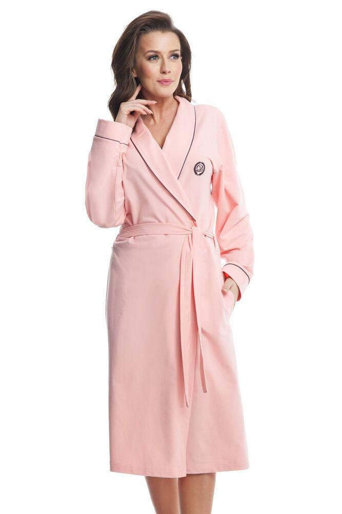 Dámský bavlněný župan Daphne růžový velikost XXL