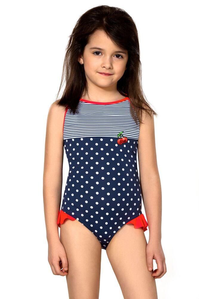 Dívčí jednodílné plavky Sárinka modré velikost 110