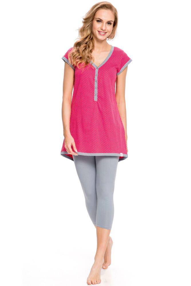 Kojicí pyžamo Penelope hvězdičky červené velikost S