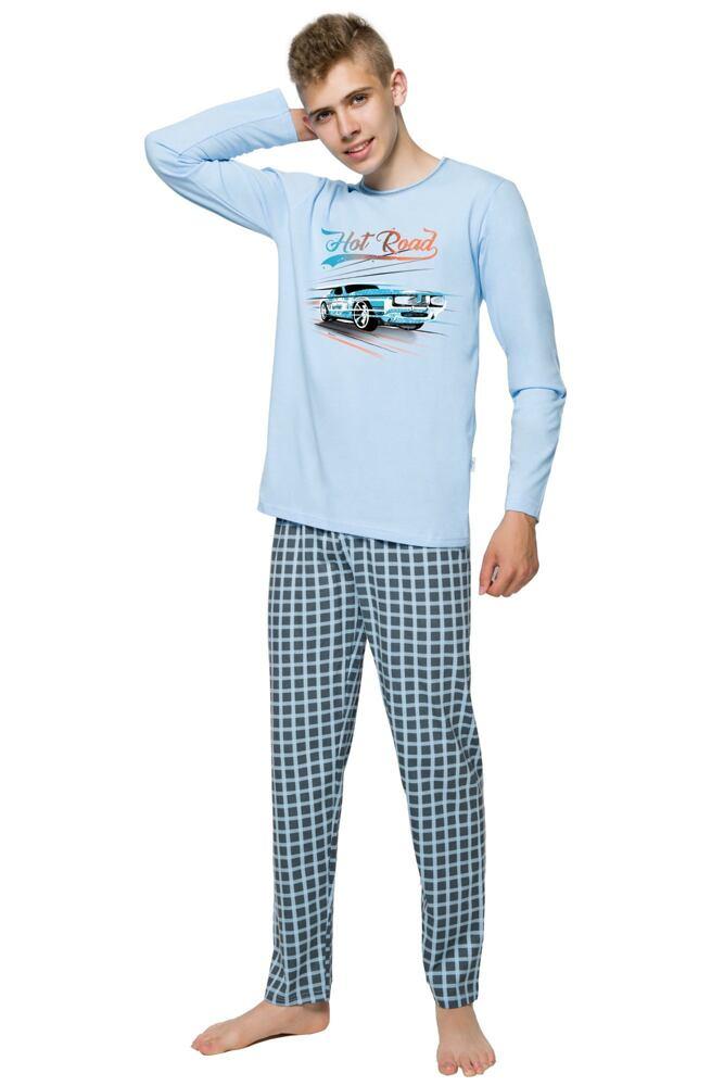 Chlapecké pyžamo s autem Franta modré velikost 146