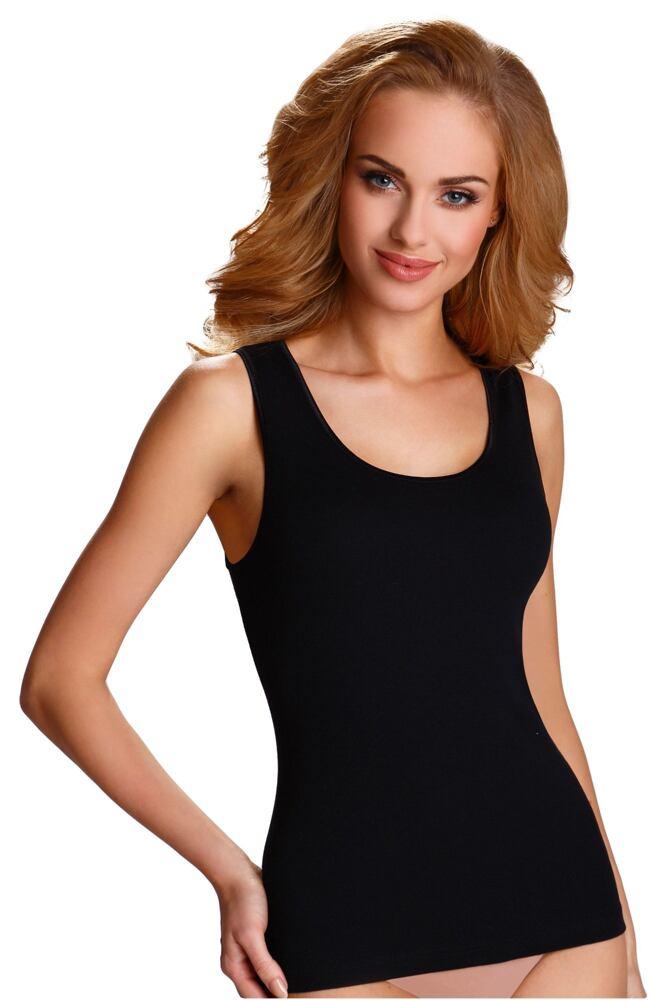 Černá spodní košilka Clarissa s širokými ramínky velikost S