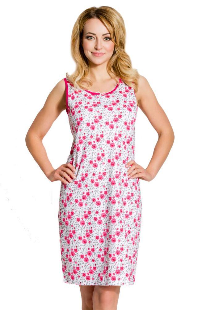 Dámská bavlněná noční košile Zira růžová velikost S