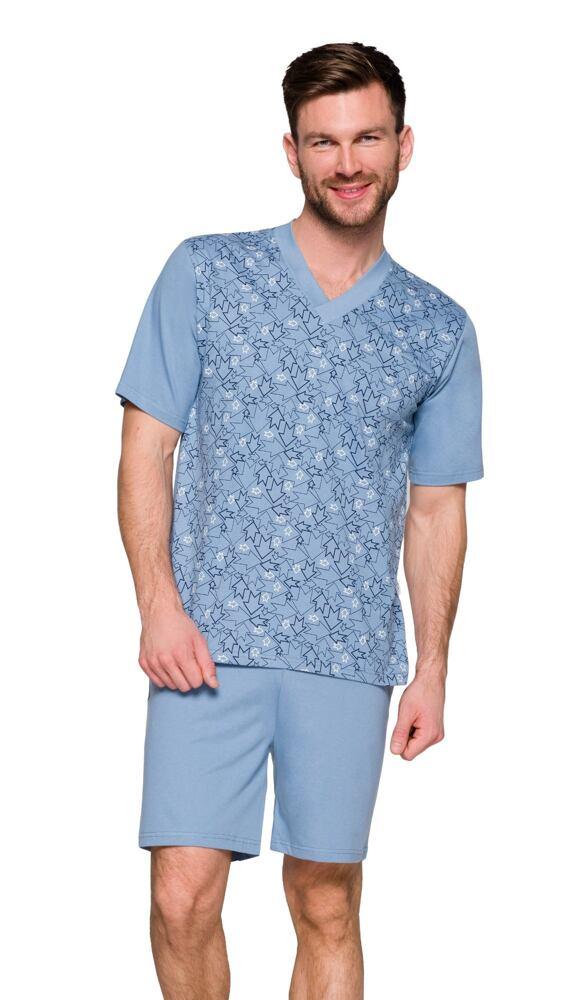 Pánské pyžamo Roman modré šipky velikost M