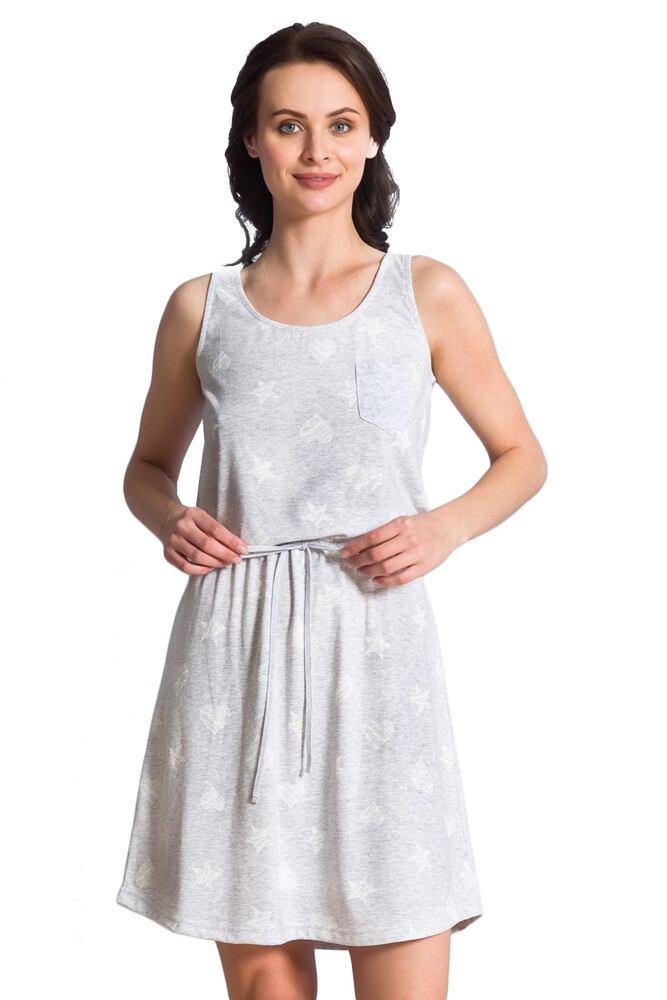 Dámská bavlněná noční košile Mady šedá velikost S