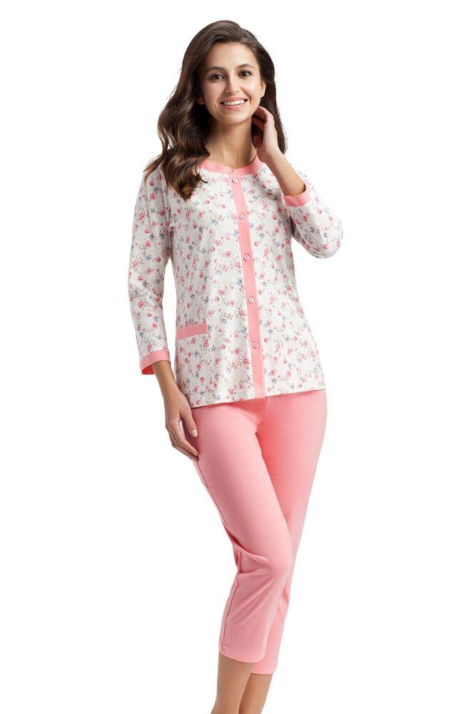 Dámské pyžamo Emilie květinky velikost XL