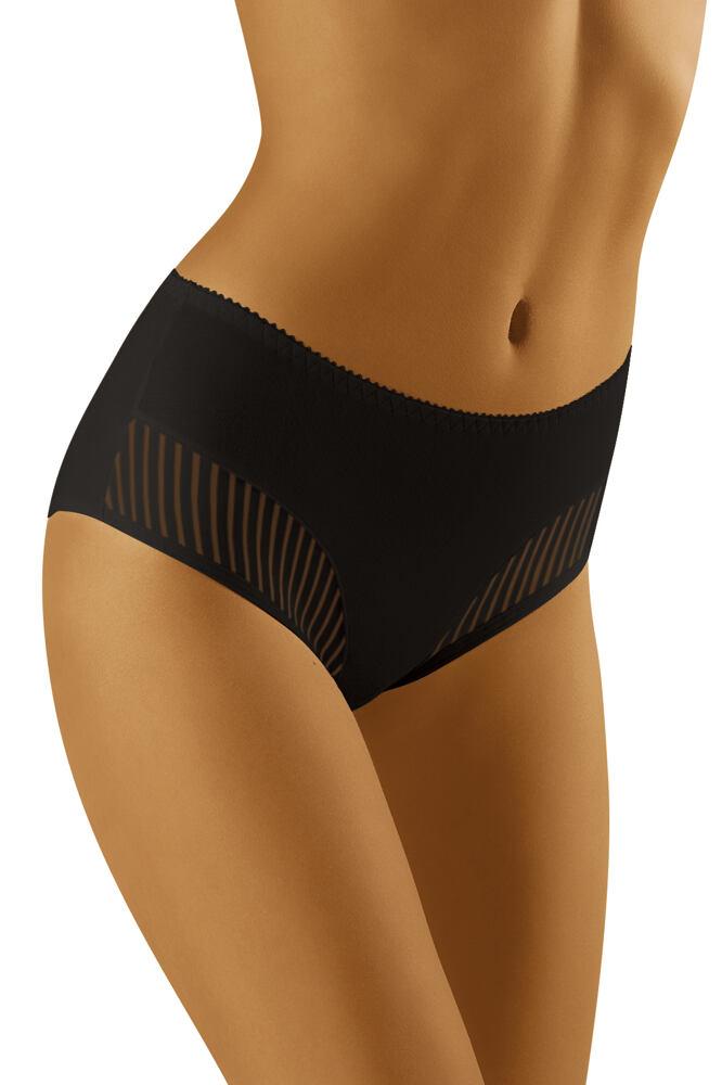 Dámské kalhotky s vyšším pásem ECO - QI černé velikost L