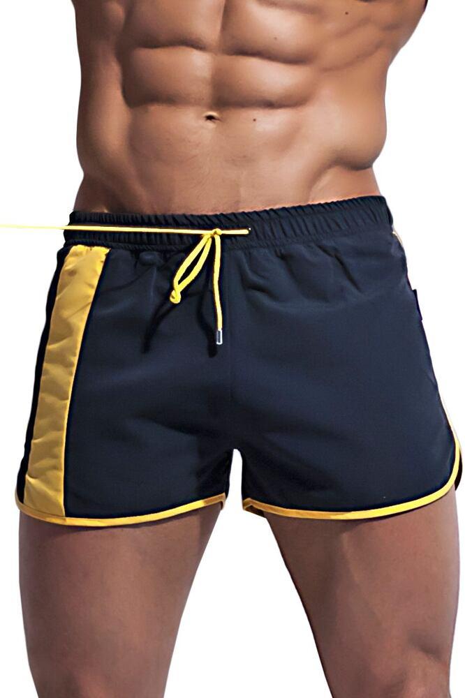 Alpha Male boxerkové plavky Curso černé velikost XXL