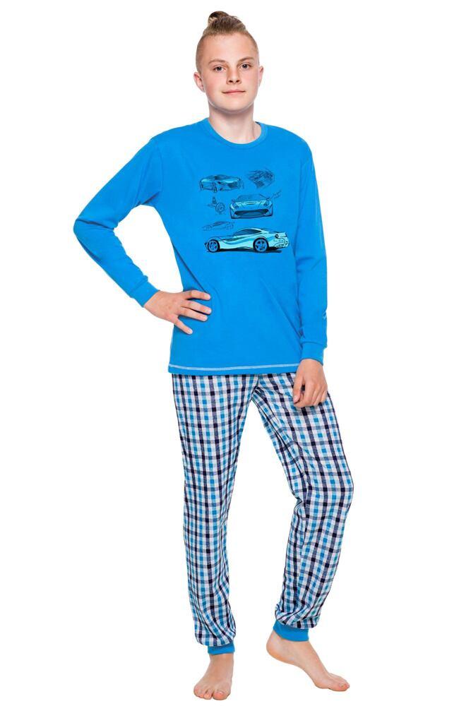 Chlapecké pyžamo dlouhé Vojta modré velikost 146