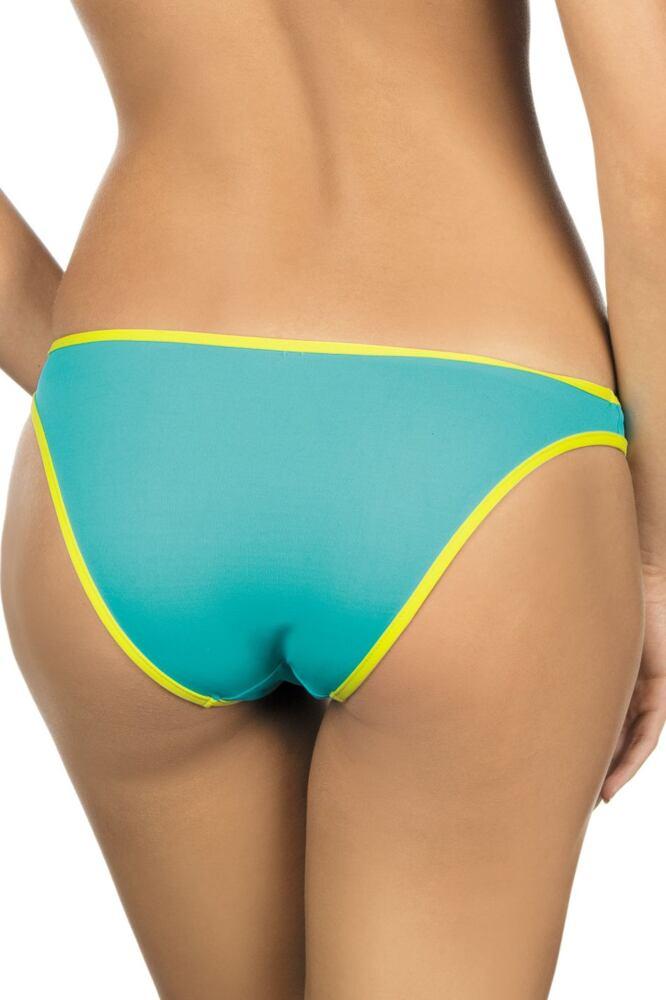 Dámské plavkové kalhotky Emma žluto zelené velikost S