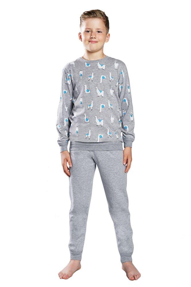 Chlapecké pyžamo Lama šedé velikost 98