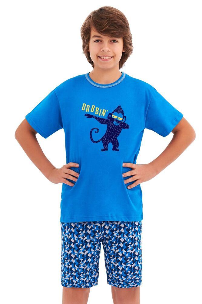 Chlapecké pyžamo Damián modré opice velikost 146