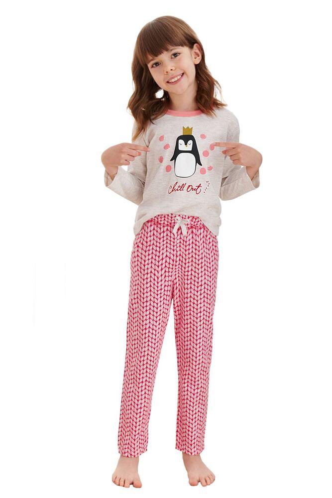Dívčí pyžamo Maja béžové tučňák velikost 92