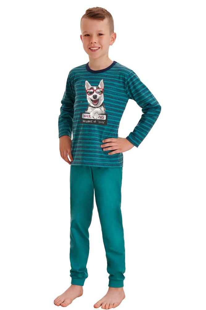 Dlouhé chlapecké pyžamo Max zelené velikost 92