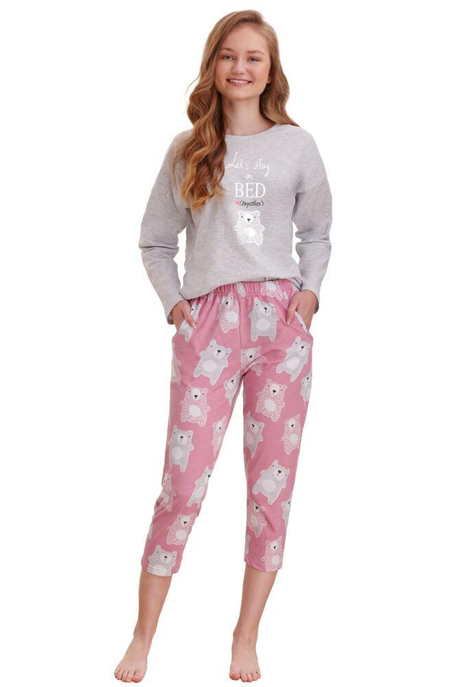 Dívčí pyžamo Molly světle šedé velikost 152