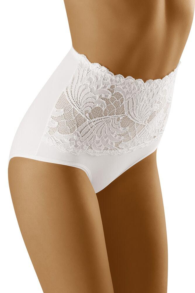 Dámské kalhotky s vyšším pasem Kaja bílé velikost XL
