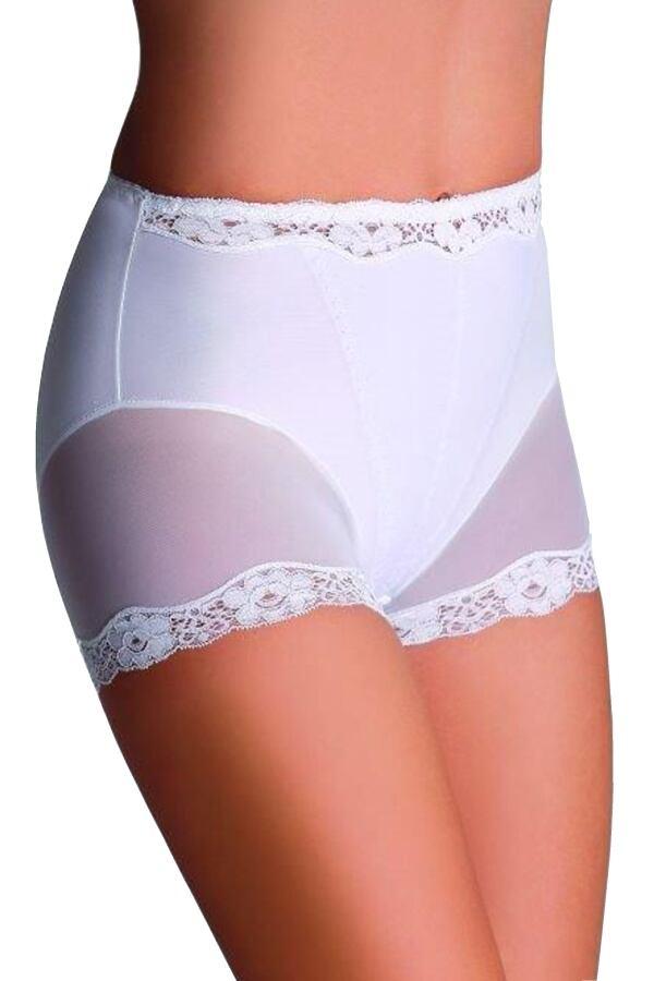 Stahovací kalhotky s nohavičkou Lara bílé velikost S